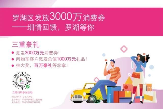 深圳罗湖发放3000万电子消费券,微信小程序可预约